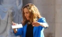 Carolina Punset, durante su intervención en el acto con Albert Rivera @ESCANYAT