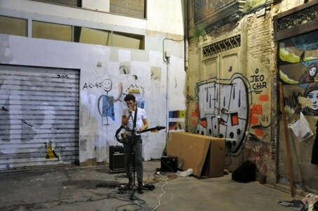 Concierto de música en la plaza de Coll.