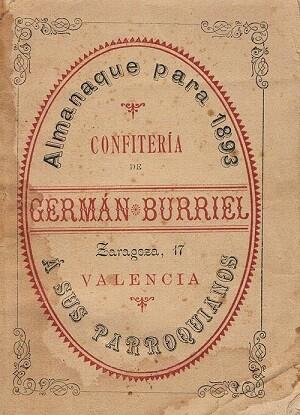 Confitería Burriel. 1893
