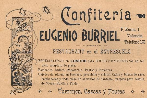 Confitería Burriel. 1902