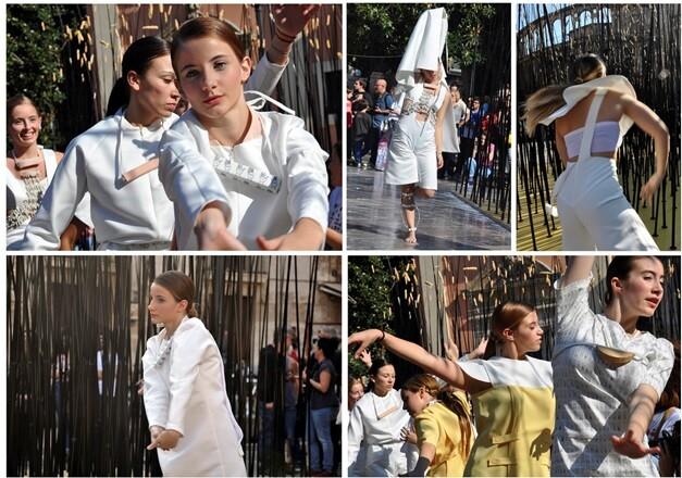 Danza-desfile de Julia Rubio.