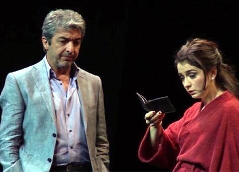 Darín y Érica Rivas en un momento de la función.
