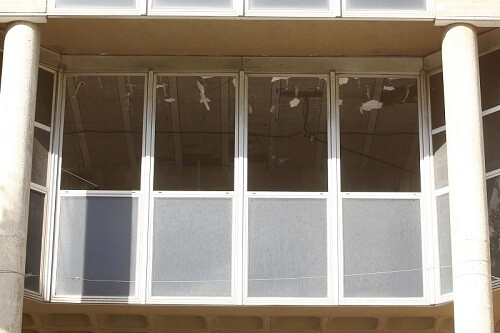 Obras de derribo el edificoi municipal, Nuevo Ayuntamiento, Av. aragon