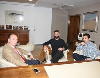 El concejal de Cultura Festiva, Pere Fuset, se ha reunido con el presidente de la Cámara, José Vicente Morata.