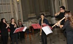 El conjunto musical de flauta 'Fairy Queen and Friends' actúo en el Ayuntamiento.