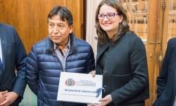 El ministro de Asuntos Exteriores de Bolivia visitó Valencia y ofreció una conferencia.