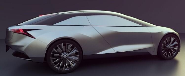 El vehículo es una berlina de líneas depuradas adaptada a la conducción autónoma.