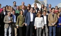 Comunidad Valenciana.Valencia.28/11/2015.Acto politico del PP en L´Hemisferic con Rajoy.Fotografia de Jesús Signes