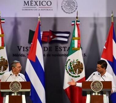 Esta es la primera visita de Estado de Raúl Castro a México desde que asumió la presidencia en 2006.