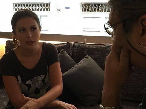 Lara Siscar durante un momento de la entrevista.