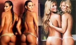 Las gemelas Figueiredo, bellas nadadoras de Brasil  (1)