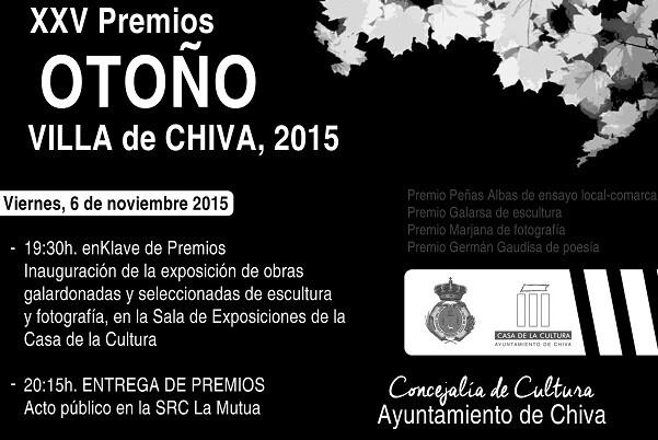 Los Premios Otoño Villa de chiva celebran su gala anual.