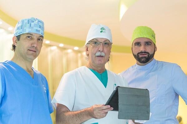 Los doctores Santamarta, Rey y Castro