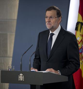 Mariano Rajoy ante los medios de comunicación.