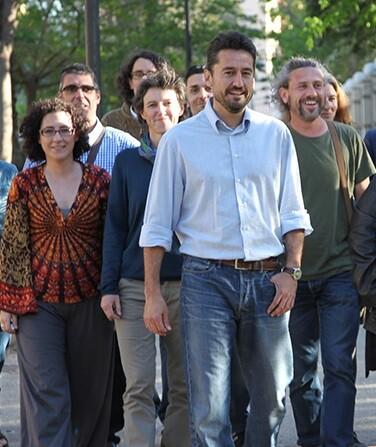 Miembros de la formación València en Comú.