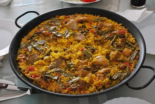 Paella valenciana.