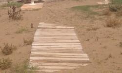 Pasarelas dañadas playa de Burriana