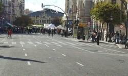 Primer domingo de la plaza del Ayuntamiento de Valencia cerrada para hacerla peatonal  (2)