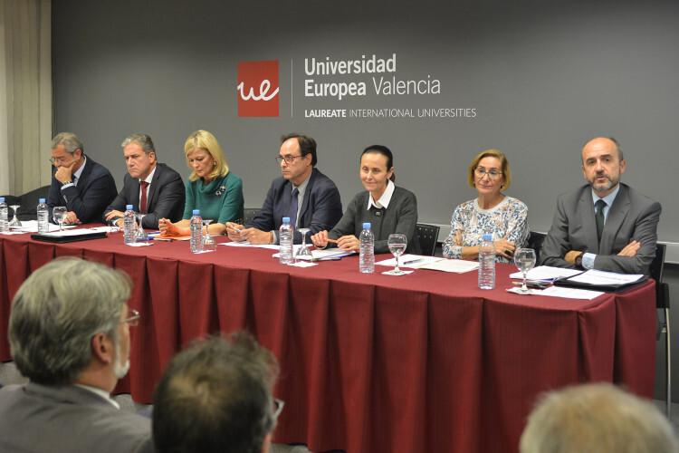 Rafael Bonmati, Pedro Viguer, Gabriela Bravo, Vicent Soler, Pilar de la Oliva, Teresa Gisbert y Luis Sebastiá