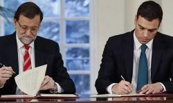 Siete partidos muestran su apoyo el pacto antiyihadista que ya firmaron el PP y el PSOE.