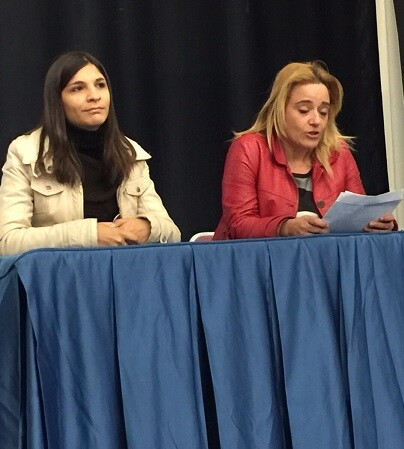 Silvia González y María Verdú.