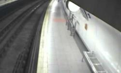 Policía rescata a un hombre inconsciente que cayó a las vías del metro de Madrid