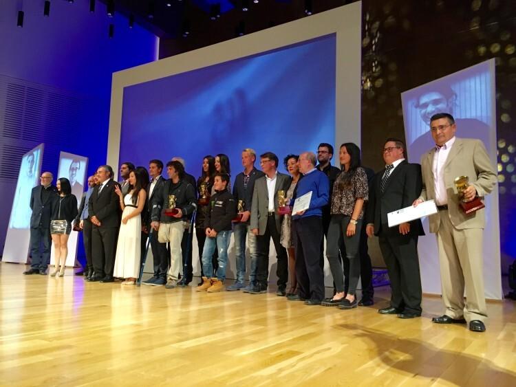 120415 Gala deporteAlejandra Quereda y Julio Alberto Amores se alzan con el título de Mejores Deportistas de la Provincia en 2014