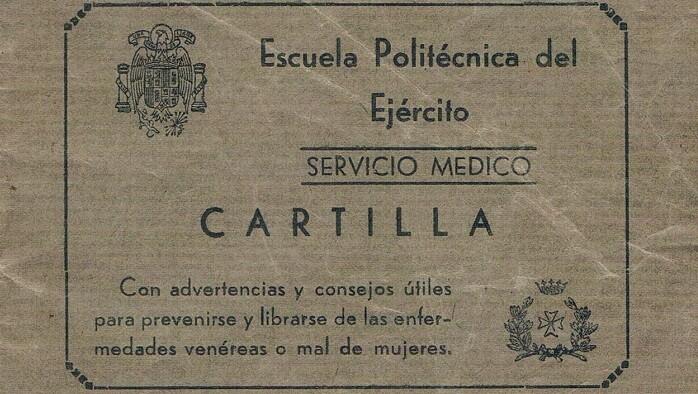 Cartilla enfermedades venéreas. Años 40.