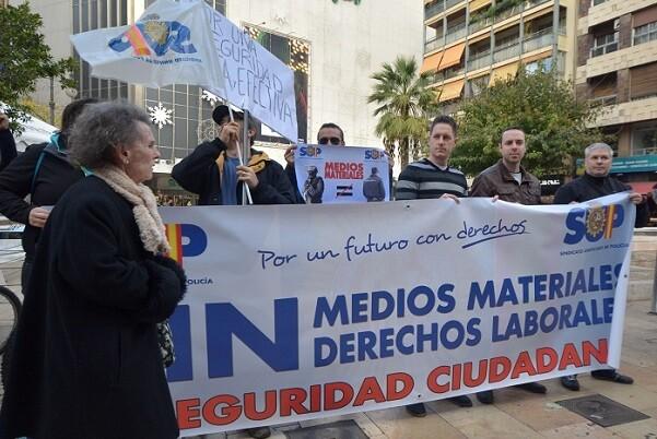 Concentración del SUP frente a la Delegación del Gobierno en Valencia.