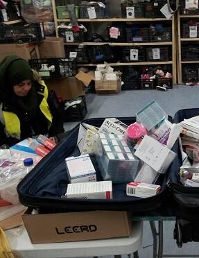 Donación de medicamentos cuyas fechas caducaron en 2007. (Foto-Bienvenidos Refugiados-España).