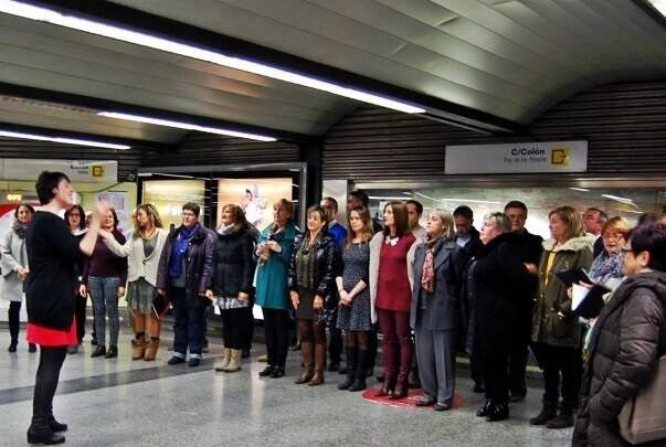 El Coro FGV actuará mañana en Colón dentro de las actividades de Nadal al metro.