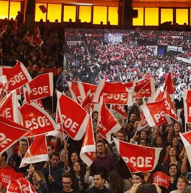 El PSOE vivió uno de sus grandes jornadas ayer dentro de la campaña electoral. (Foto-Manuel Molines).