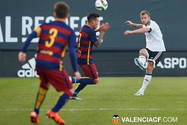 2015-12-05, VCF Mestalla v FC Barcelona B. Paterna, Antonio Puchades