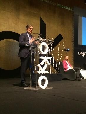 Francisco Bartual, director general de Aguas de Alicante, ha participado en la mesa redonda 'La RSE en el seno de las empresas públicas'.