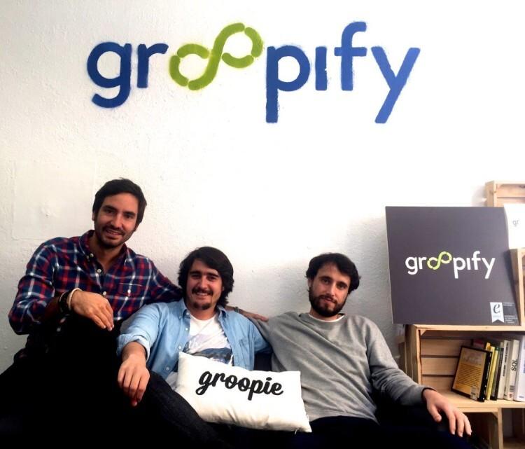 Fundadores Groopify Álex, Pablo y Miguel