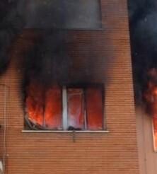 Hasta el lugar del siniestro se desplazaron dos dotaciones de bomberos.