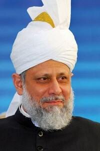 Hazrat Mirza Masrur Ahmad, el Jefe Supremo de la Comunidad Ahmadía del Islam.