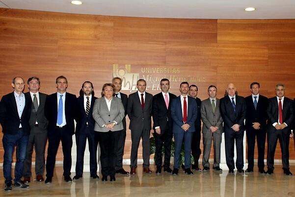 Hidraqua celebra su Comité de Dirección mensual en las instalaciones de la Universidad Miguel Hernández de Elche.