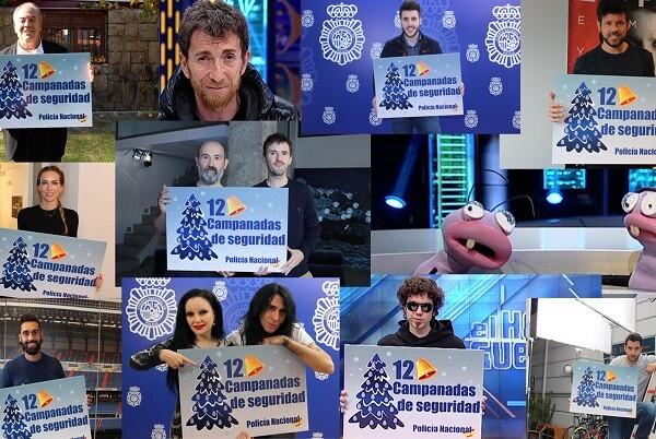 La Policía Nacional lanza la campaña 'Doce Campanadas de Seguridad en Internet'.