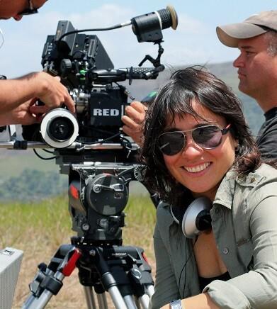 La realizadora durante el rodaje de la película.