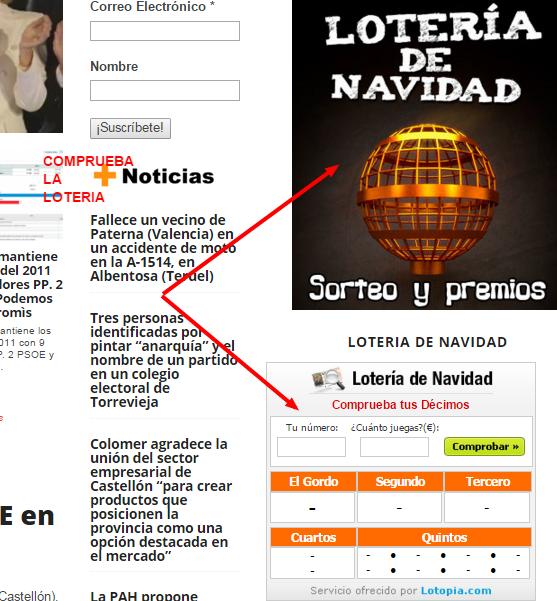Lotería Nacional, Lista oficial del Sorteo de la Loteria de NAVIDAD 22 DICIEMBRE de 2015