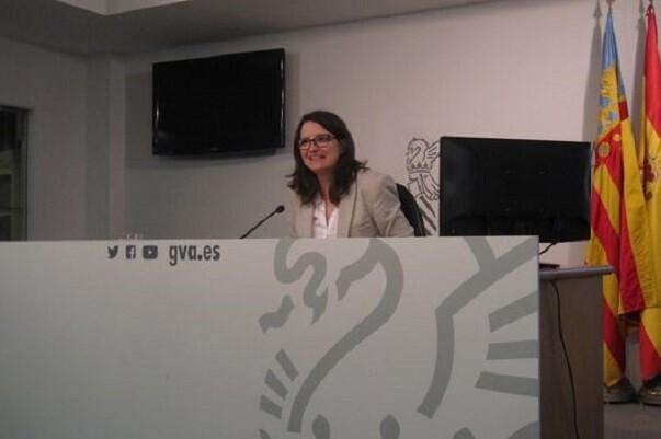 Mónica Oltra considera que 'no es estético el nombramiento del marido de Montón en Egevasa'.