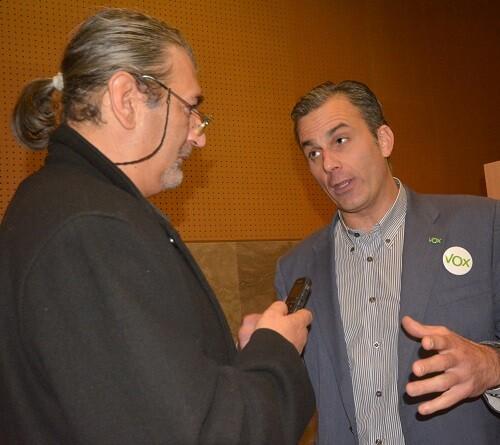 Ortega Smith-Molina durante la entrevista.