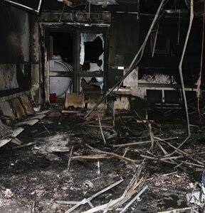 Protección Civil indicó que se movilizaron 21 equipos de bomberos.