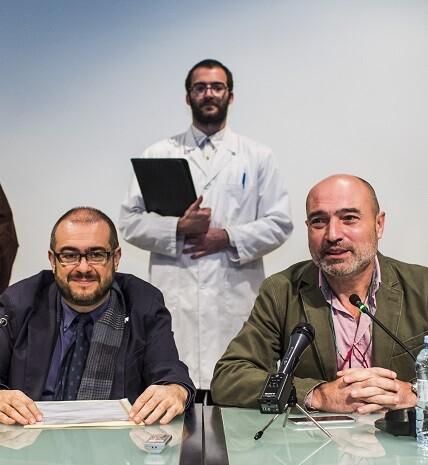 Rueda de prensa sobre la reapertura de la exposición. (Foto-Eva Máñez).