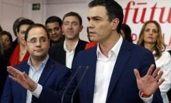 Sánchez y sus barones acuerdan intentar formar Gobierno con Podemos si renuncia al referéndum catalán.