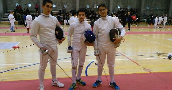 Tortajada, Sanchez y Valero en Barajas