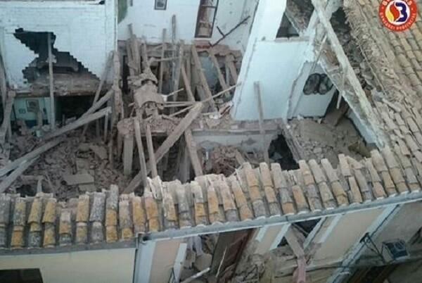 Tres son las personas heridas en el derrumbe de una vivienda en El Puig.