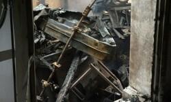 Un incendio afecta a un molino de arroz de una nave industrial en l'Alqueria de la Comtessa. - copia