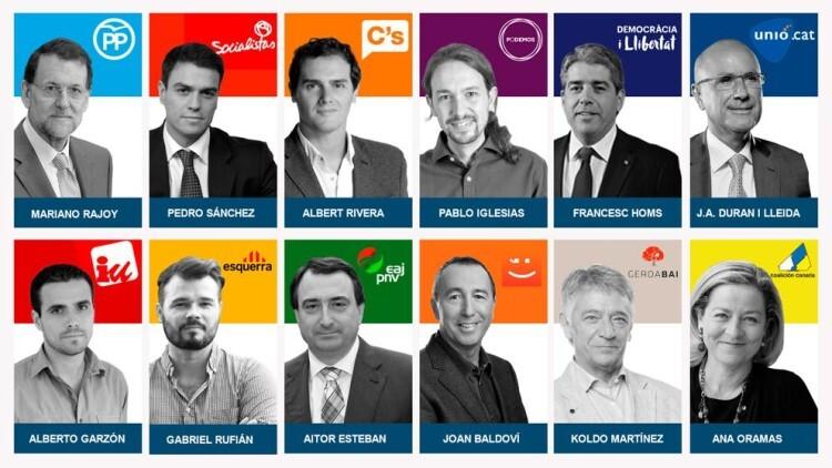 Los principales candidatos a las elecciones generales del 20D (Pablo González - LV)